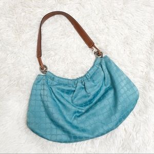 Blue vintage Kate spade Noel hobo bag purse